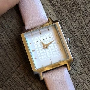 Burberry Watch with Pink Band